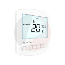 Heatmiser Slimeline RF Wireless Programmable Thermostat – Slimline RF
