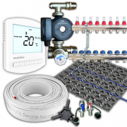 Low Profile Retro Fit Multi Zone Underfloor Heating Kit 90m²