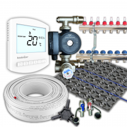 Low Profile Retro Fit Multi Zone Wet Underfloor Heating Kit 80m²