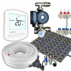 RetroFit Low Profile Multi Zone Wet Underfloor Heating Kit - 32sqm