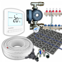 RetroFit Multi Zone Low Profile Wet Underfloor Heating Kit 60m²