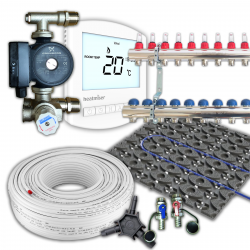 Retro Fit / Low profile Multi zone Underfloor Heating Kit 100m²