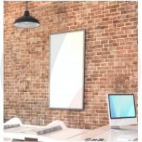 Framed White Heating Panel